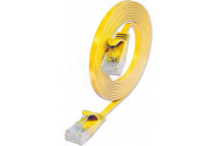 FLAT CAT6 CABLE 0,15m YELLOW