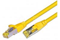 CAT6A VERKKOKAAPELI SUOJATTU S/FTP 0,5m keltainen