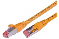 CAT6 VERKKOKAAPELI SUOJATTU S/FTP 0,5m oranssi