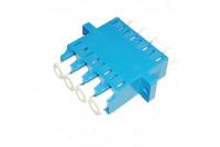 LC Quad Adapter, SM, Blue, Zr sleeve,