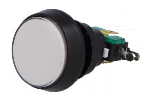 MIKROKYTKIN ISO PAINIKE VALKOINEN 12V LED