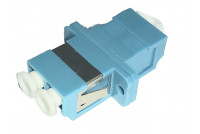 LC -Duplex Adapter, blue with white cap SM