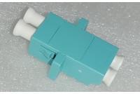 LC Duplex Adapter OM3 Aqua Zr sleeve