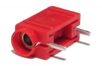 4mm BANANA SOCKET PCB 24A 60VDC RED