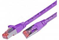 CAT6 VERKKOKAAPELI SUOJATTU S/FTP 0,5m violetti