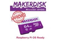 MakerDisk 64GB microSD MEMORY CARD