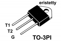 TRIAC 40A 600V 100/80mA TO3PI