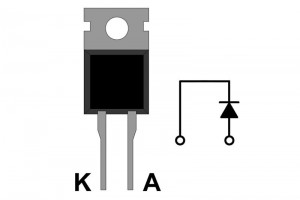 FAST DIODE 10A 200V 35ns TO220i