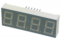 RED QUAD 7-SEGMENT LED DISPLAY 50x19 mm COMMON CATHODE