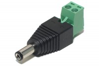 DC PLUG 2,1mm WITH TERMINAL BLOCK