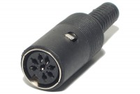 DIN CONNECTOR FEMALE 8-PIN 270°