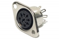 DIN CONNECTOR PANEL MOUNT 8-PIN 262°
