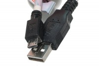 USB-2.0 CABLE A-MALE / microB MALE 1,8m