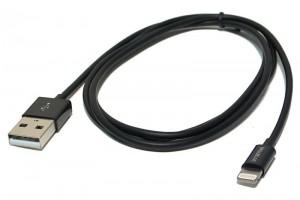USB-CABLE iPHONE5/iPADMini/iPAD4 1m black