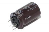 ELEKTROLYYTTIKOND. 100µF 100V 13x21mm