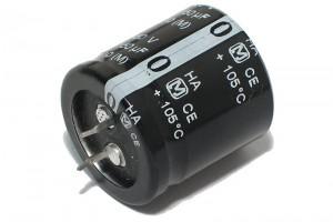 ELEKTROLYYTTIKOND. 150µF 450V 40x22mm Snap-in