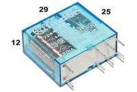 PCB RELAY DPDT 8A 12VDC