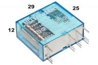 PCB RELAY DPDT 8A 24VDC
