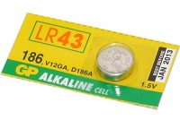 ALKALINE COIN BATTERY 1,5V (LR43, V12GA)