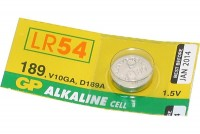 ALKALINE COIN BATTERY 1,5V (LR1130, LR54, V10GA)