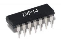 CMOS-LOGIC IC SCHMITT 40106 DIP14