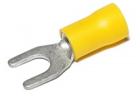 FORK TERMINAL 5,3/9mm YELLOW