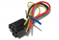AUTO RELAY SOCKET WITH LEADS 5-PIN