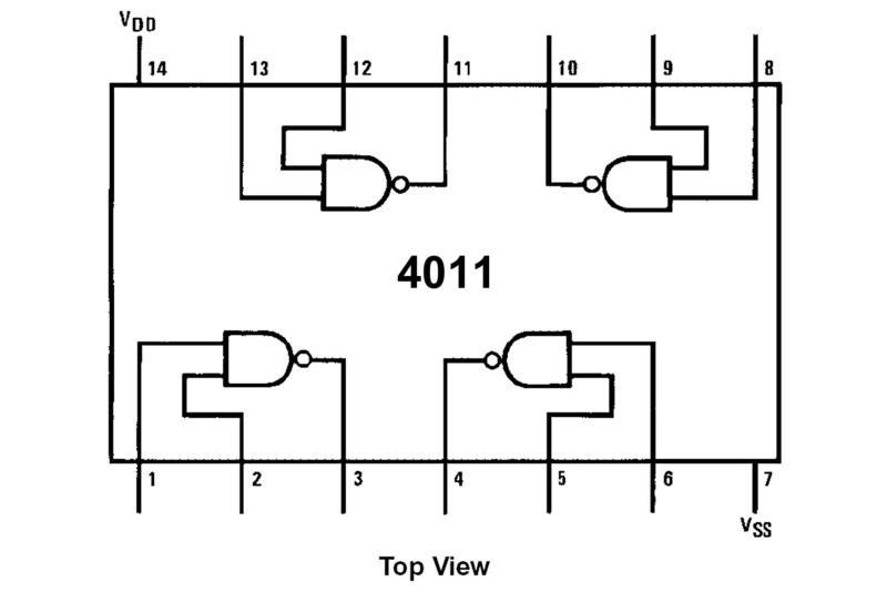 cmos-logic ic nand 4011 dip14