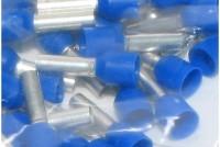 WIRE END FERRULE 2,5mm2 BLUE 100pcs