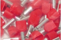 WIRE END FERRULE 2x1,0mm2 RED 100pcs
