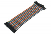 JUMPER WIRE FEMALE/FEMALE MULTICOLOR FLAT CABLE 21cm 40pcs