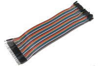 JUMPER WIRE MALE/FEMALE MULTICOLOR FLAT CABLE 21cm 40pin