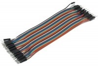 JUMPER WIRE MALE/MALE MULTICOLOR FLAT CABLE 21cm 40pcs
