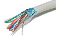 TWISTED PAIR CABLE CAT5e 4x2 SHIELDED 1m