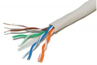 SOLID TWISTED PAIR CABLE CAT5e 4x2 1m