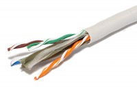 SOLID TWISTED PAIR CABLE CAT6 4x2 1m