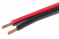 KAIUTINKAAPELI 2x 0,50mm2 PUNAMUSTA (CCA) 1m