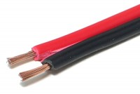 SPEAKER CABLE 2x 0,75mm2 REDBLACK (CCA) 1m