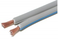 SPEAKER CABLE 2x 1,50mm2 GRAY (CCA) 1m