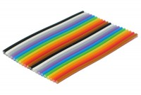 COLOURED FLAT CABLE 10-POLE 1m