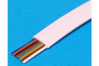 MODULAR CABLE 8-POLE WHITE 1m