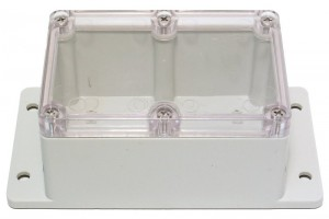 TRANSPARENT WALL-MOUNT PLASTIC ENCLOSURE IP65 65x120x80mm