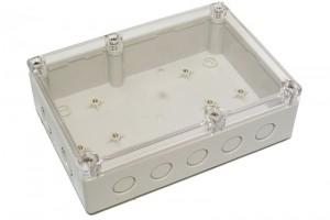 TRANSPARENT PLASTIC ENCLOSURE IP65 56x180x125mm