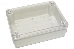 TRANSPARENT PLASTIC ENCLOSURE IP65 60x180x130mm