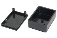 BLACK PLASTIC BOX 20x37x51mm