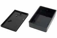 BLACK PLASTIC BOX 23x56x90mm