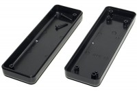 BLACK PLASTIC BOX 24x40x129mm