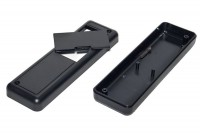 BLACK PLASTIC BOX 24x40x129mm WITH BATTERY HATCH
