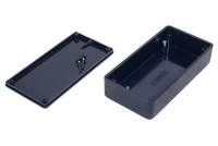 BLACK PLASTIC BOX 25x50x100mm