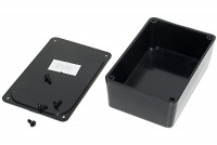 BLACK PLASTIC BOX 27x48x75mm